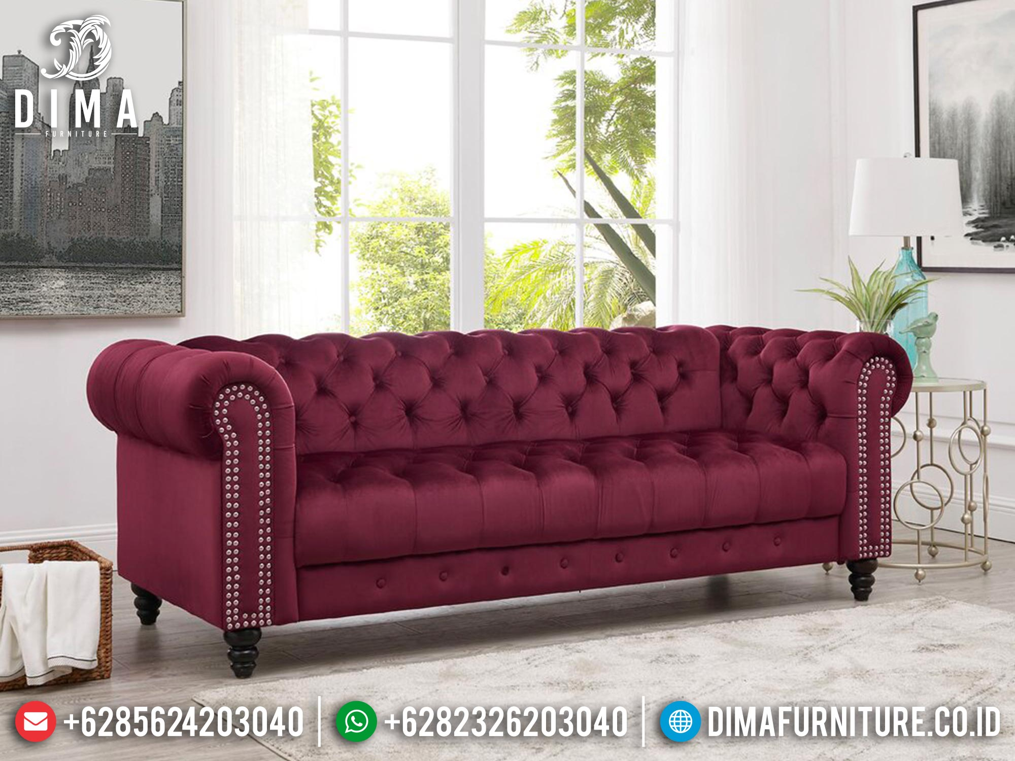 Sofa Tamu Minimalis Jepara Red Jaguar Super Sale DF-1421