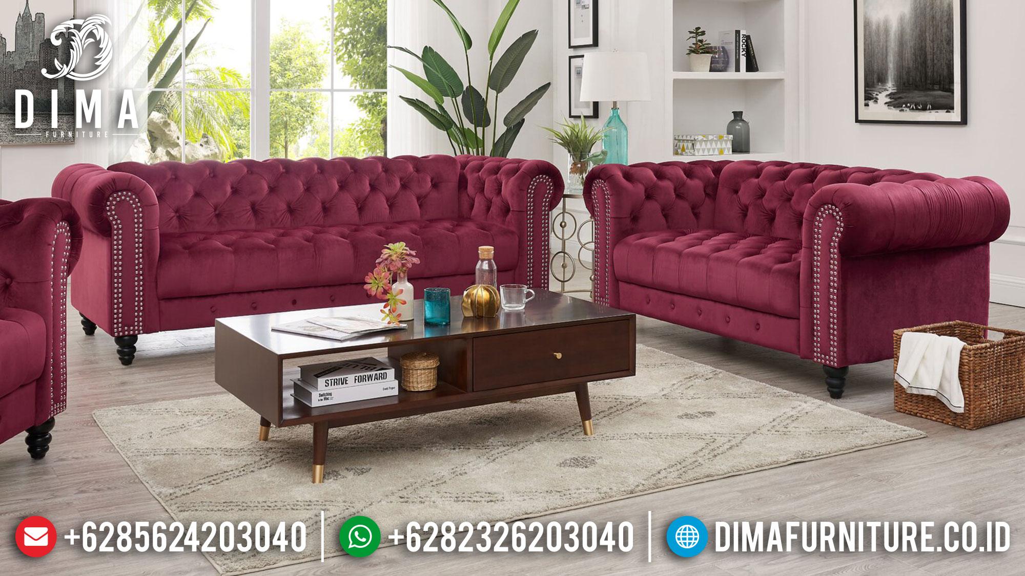 Jual Sofa Tamu Jepara, Sofa Tamu Mewah, Sofa Chester Terbaru DF-1480