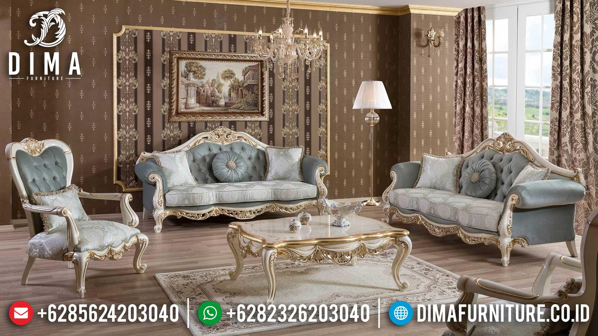 New Set Sofa Tamu Jepara Ukiran Gold Prada Seri Yeni Df-1470