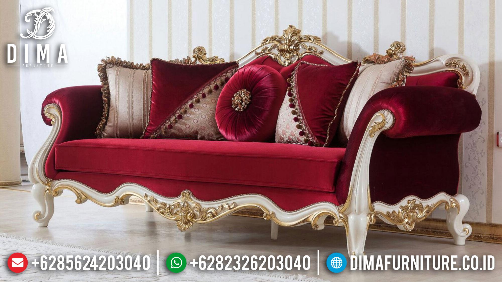 Set 3 2 1 Sofa Tamu Jepara Mewah Classic Manolya DF-1467 Gambar 1