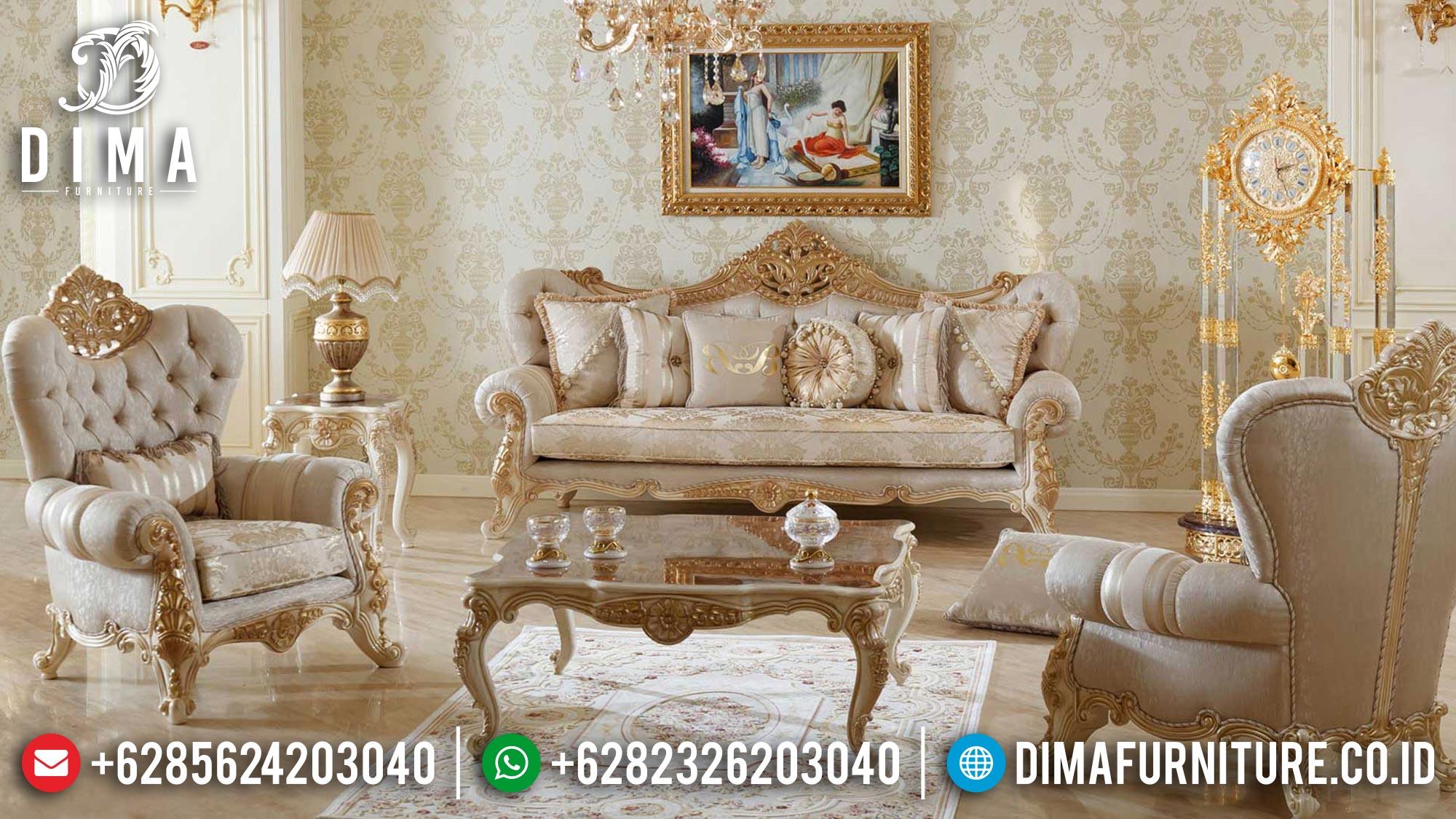 Sofa Tamu Jepara Terbaru Duco Ivory Gold New 2021 Df-1472