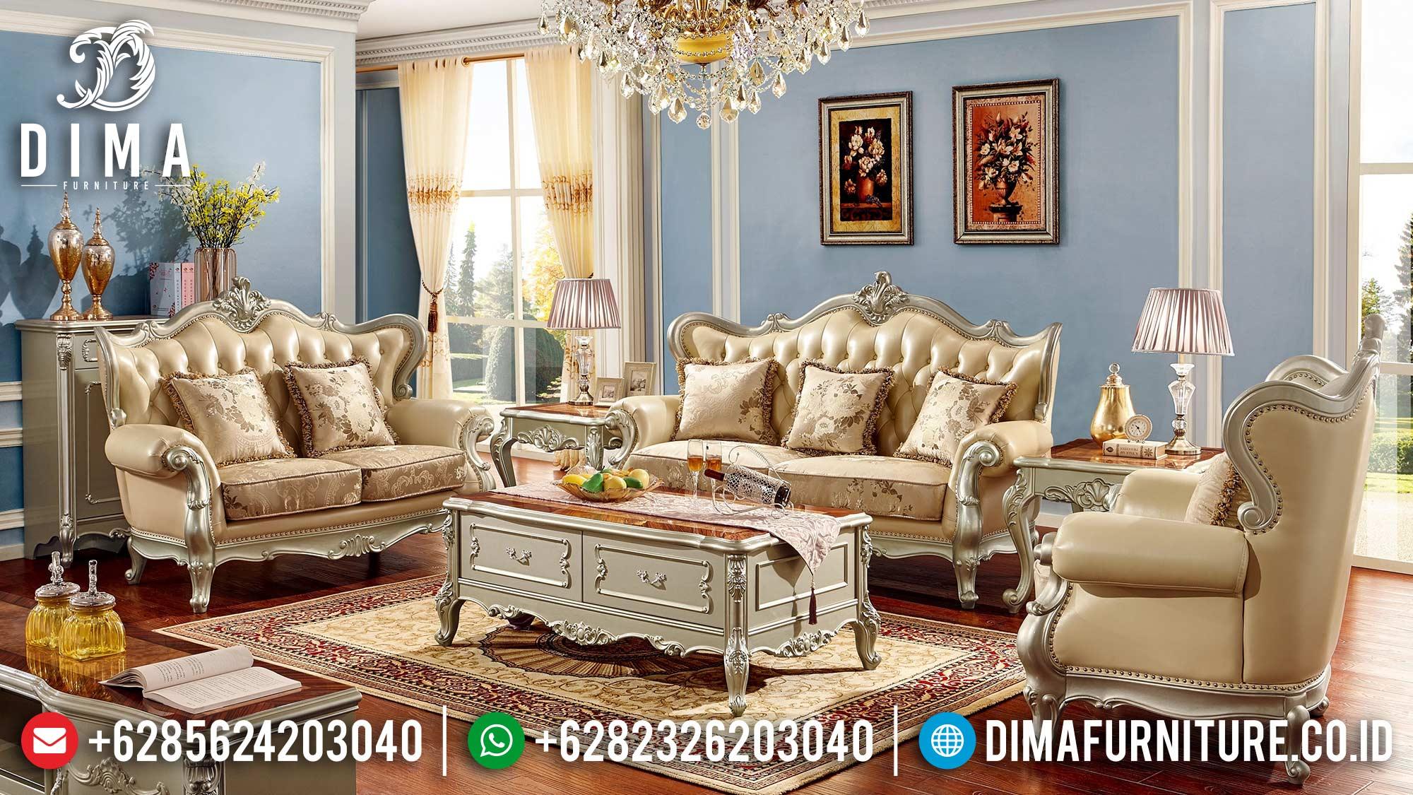 Model Sofa Terbaru Mewah Jepara Ukiran Gold Duco Classic DF-1500