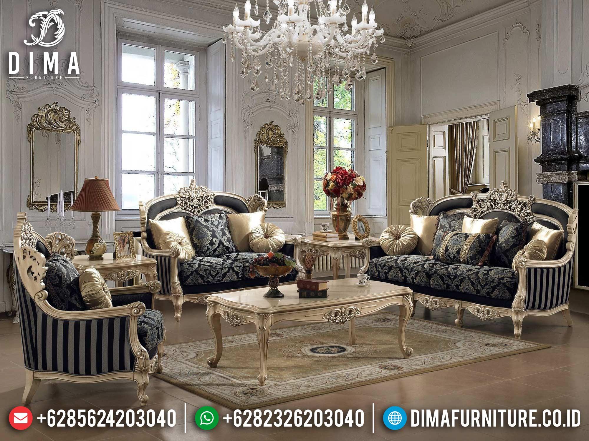 New Desain Sofa Tamu Mewah Jepara Ivory Luxury Style DF-1491