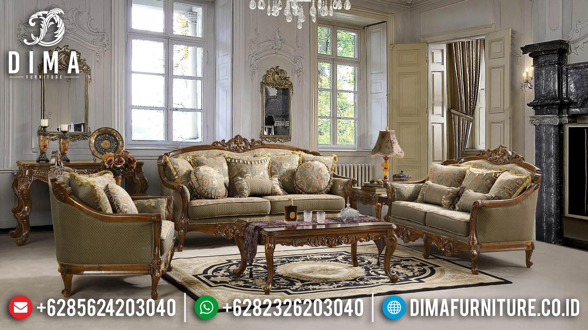 New Sofa Tamu Jepara Mewah Jati Ukir Klasik Best Guarantee DF-1506
