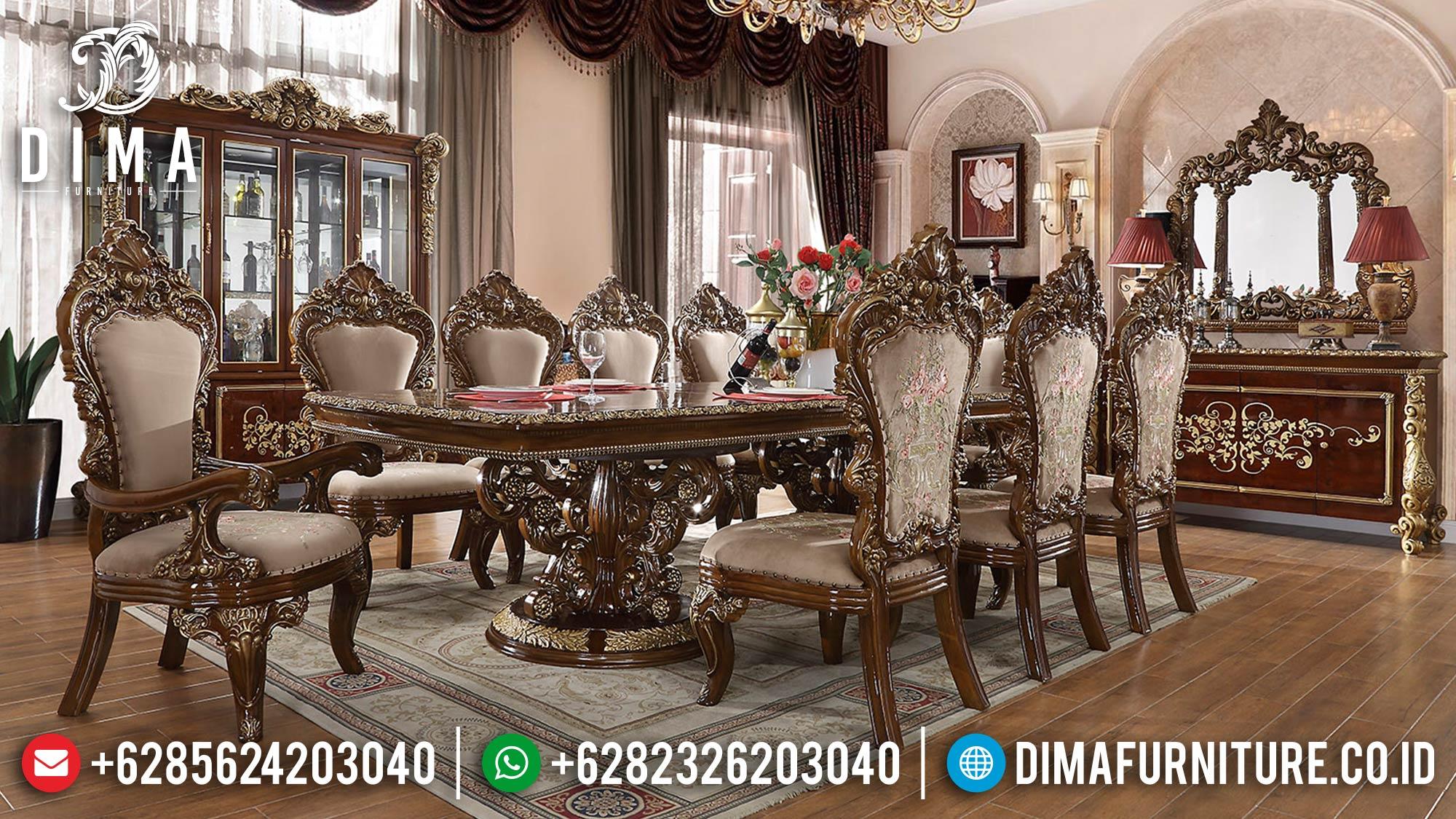 Set 6, 8, 10, & 12 Kursi Meja Makan Mewah Klasik Luxury Jepara DF-1510