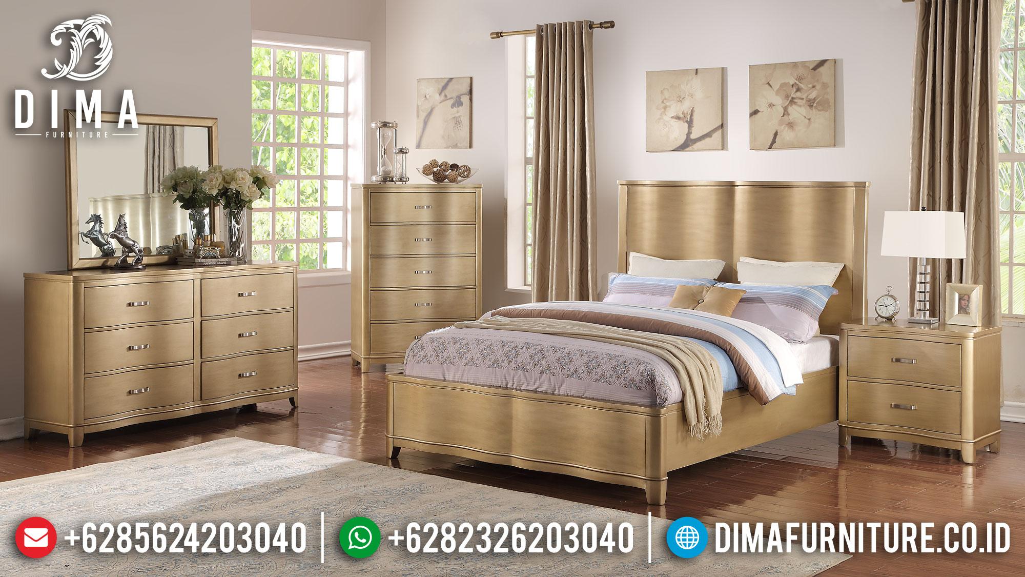 Special Gold Tempat Tidur Minimalis Terbaru Jepara DF-1505