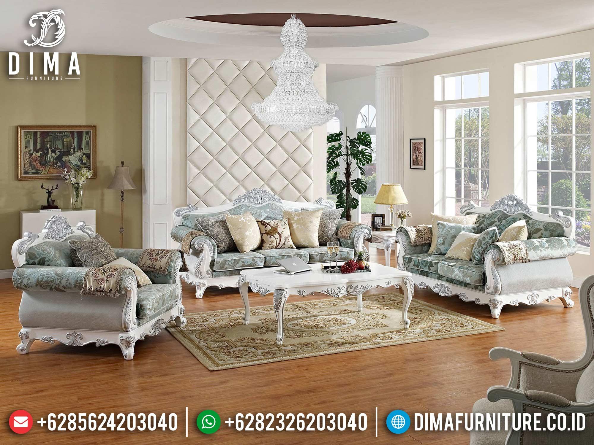 Terbaru Jual Sofa Tamu Mewah Jepara Duco Putih Silver China Models DF-1493