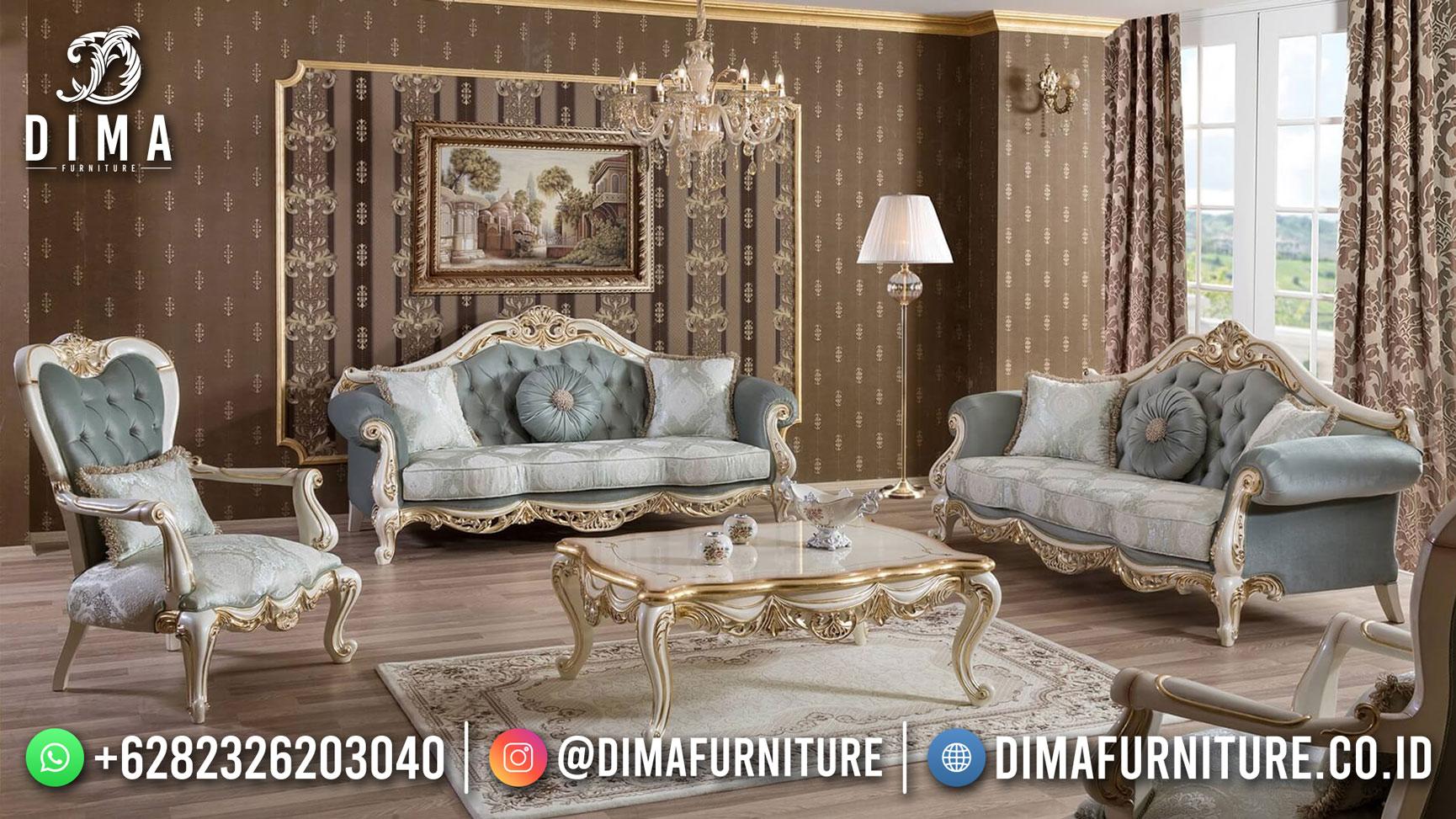 Best 2021 Set Sofa Tamu Mewah Ukiran Jepara Full Ivory Gold DF-1537