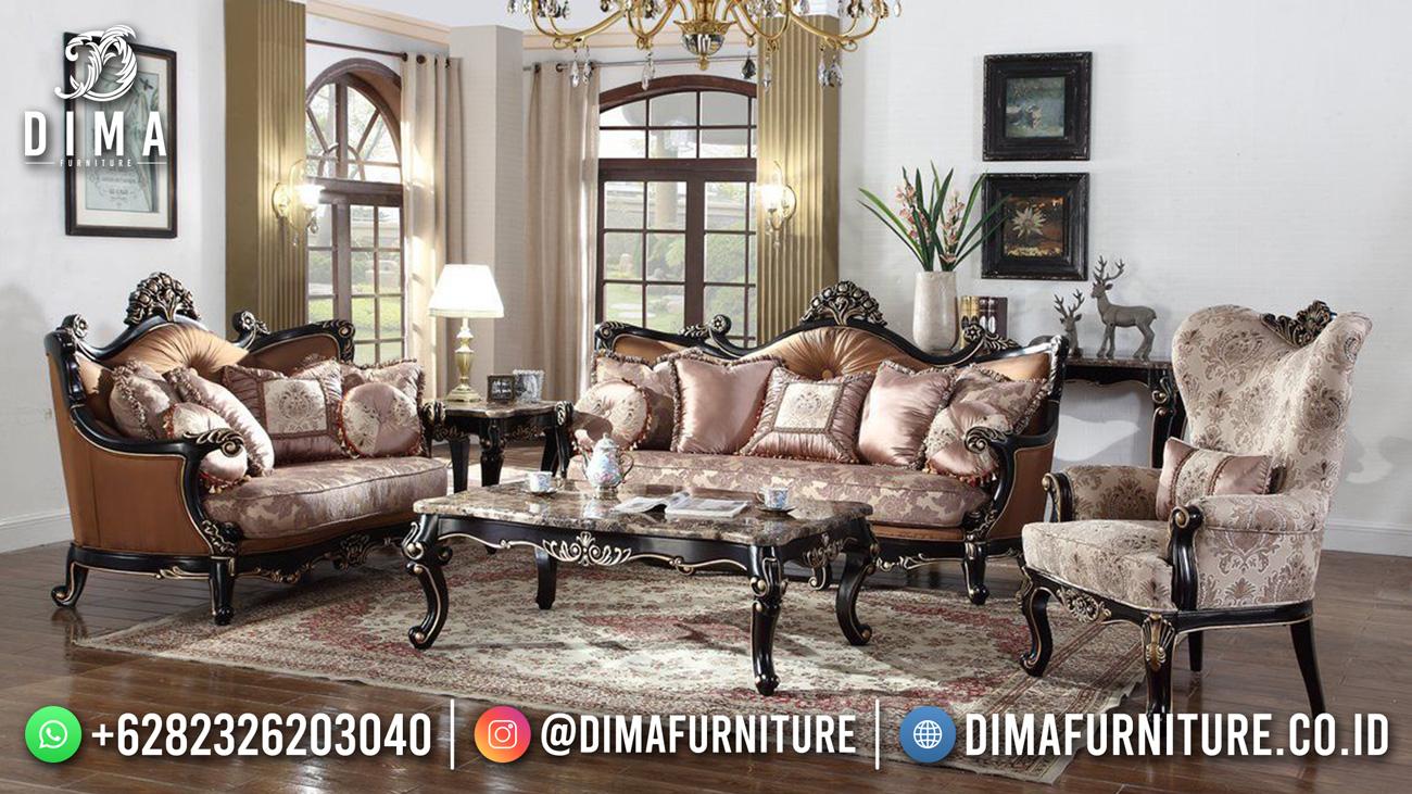 Jual Kursi Sofa Ruang Tamu Mewah Natural Rosegold Excellent DF-1535