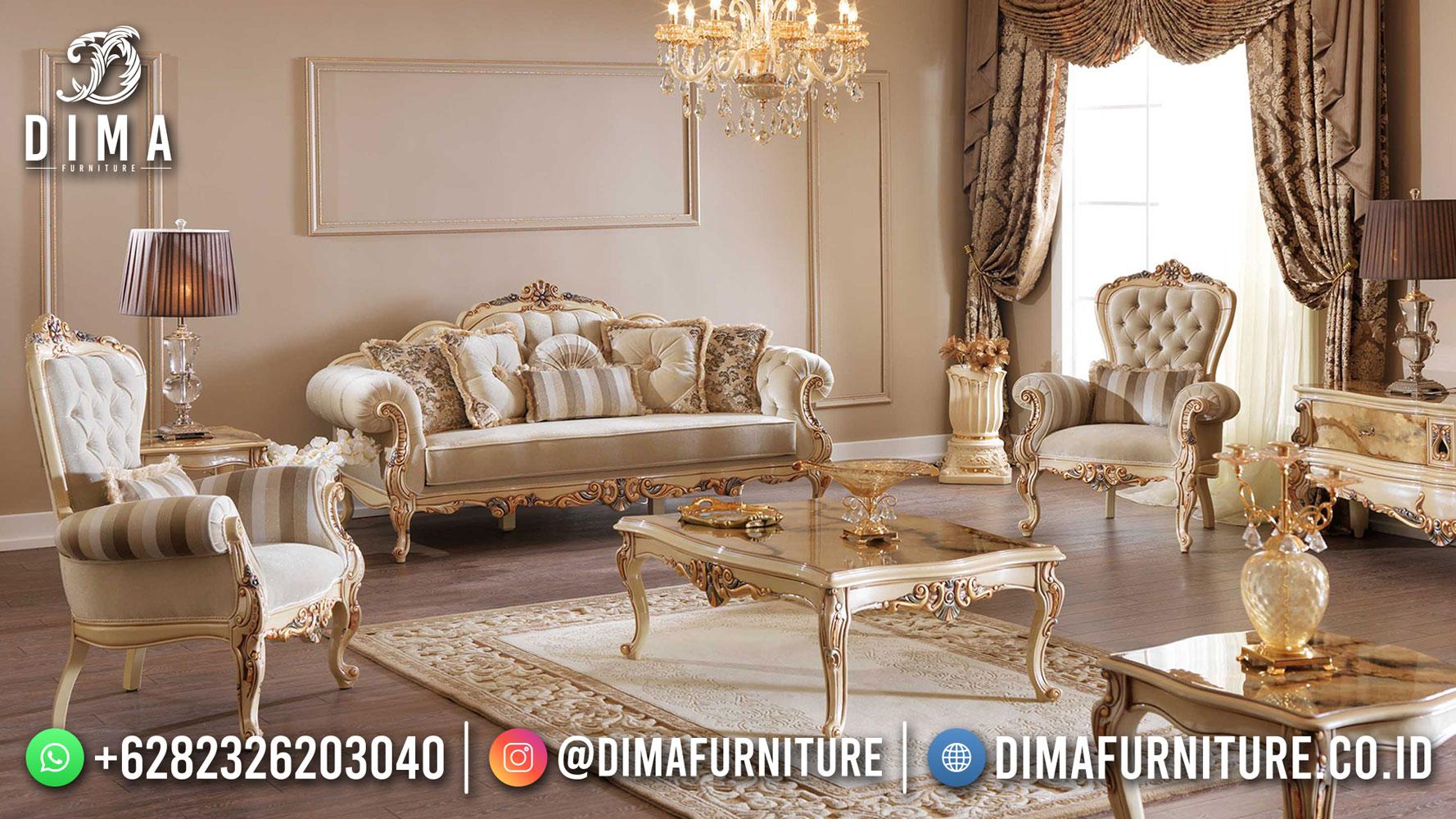 Jual Set Sofa Ruang Tamu Klasik Mewah Ukiran Jepara New 2021 DF-1527