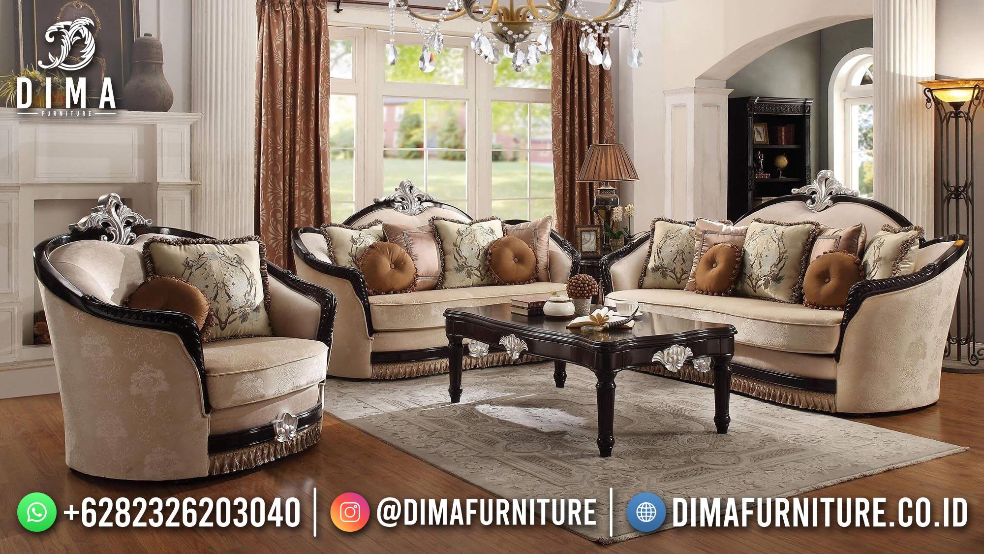 New Desain Sofa Tamu Mewah Jepara Silver Natural Marvellous DF-1534
