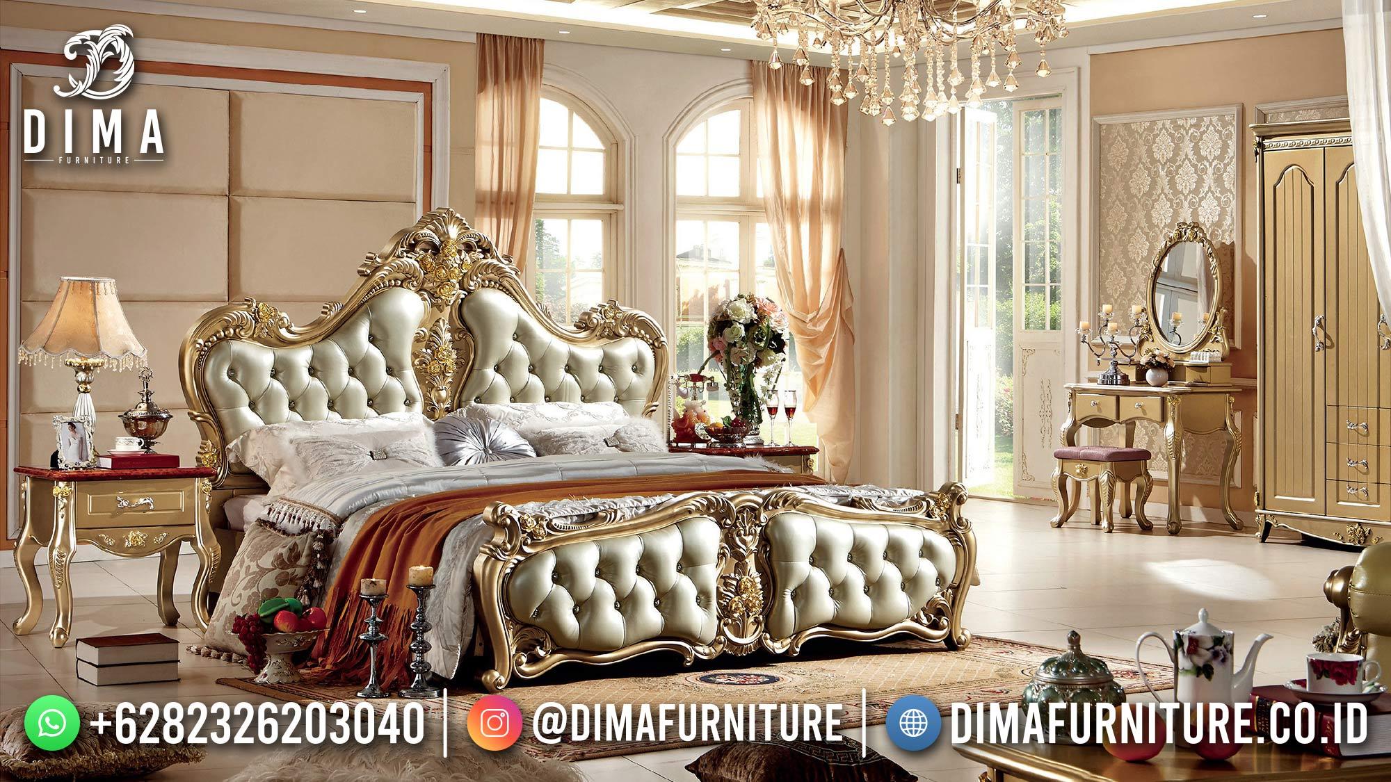 Ranjang Sultan Mewah, Tempat Tidur Mewah Jepara, 1 Set Tempat Tidur Pengantin DF-1531
