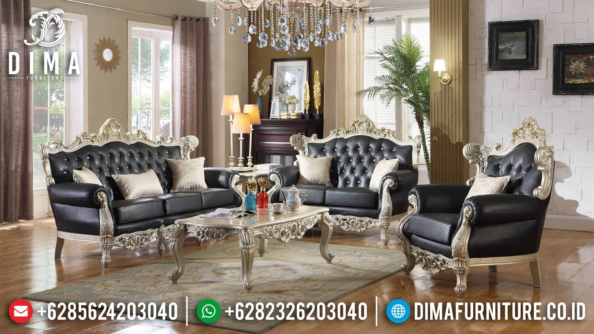 Set Kursi Sofa Tamu Jepara Mewah Klasik Silver Gold Champagne DF-1521