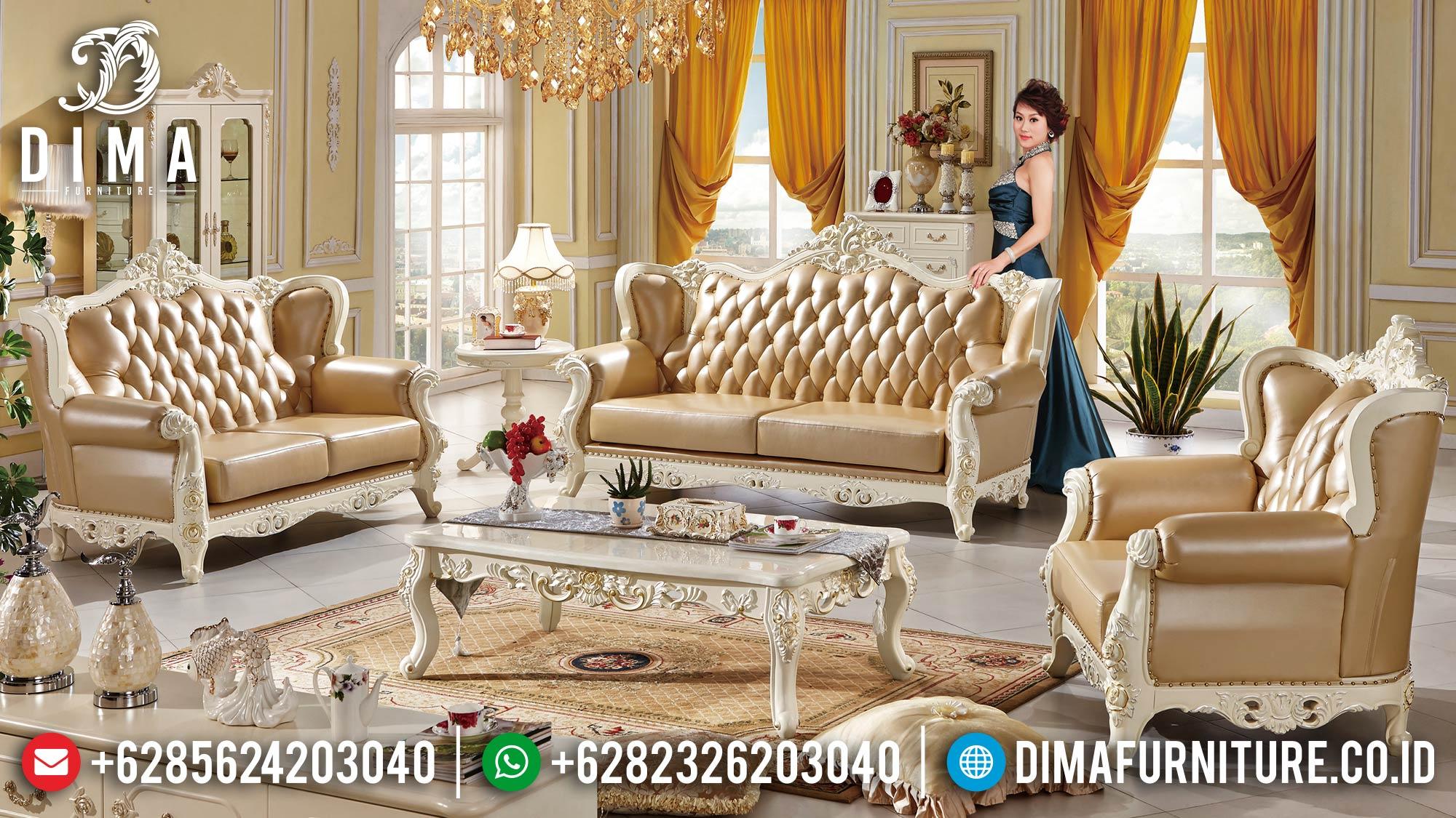 Sofa Ruang Tamu Mewah, Sofa Tamu Jepara, Sofa Mewah Terbaru 2021 DF-1518