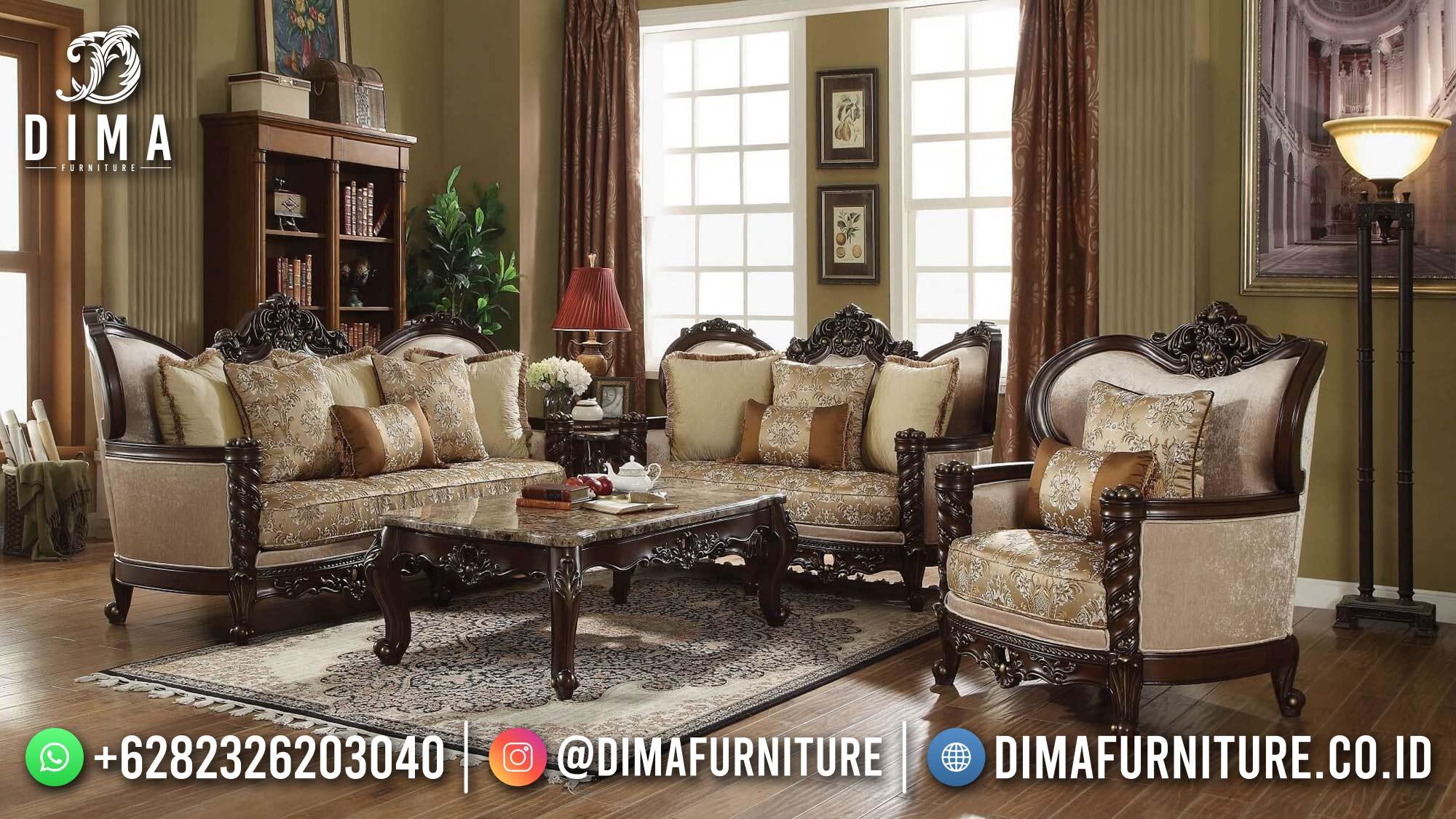 Terbaru Sofa Ruang Tamu Jepara Ukiran Mewah Luxury 3 2 1 DF-1523