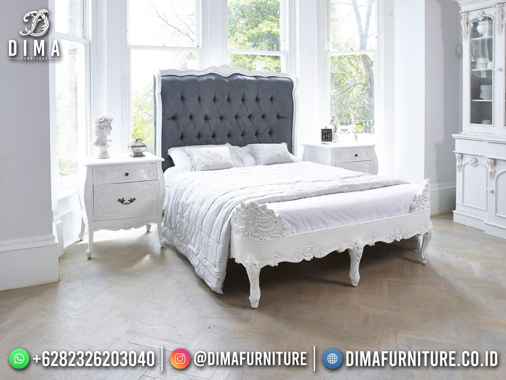 Beauty Style Tempat Tidur Mewah Jepara Excellent White Duco Color DF-1577