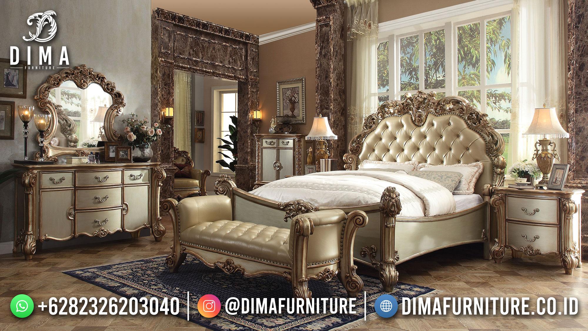 Desain Tempat Tidur Mewah Klasik Jepara Kualita Terbaik DF-1591