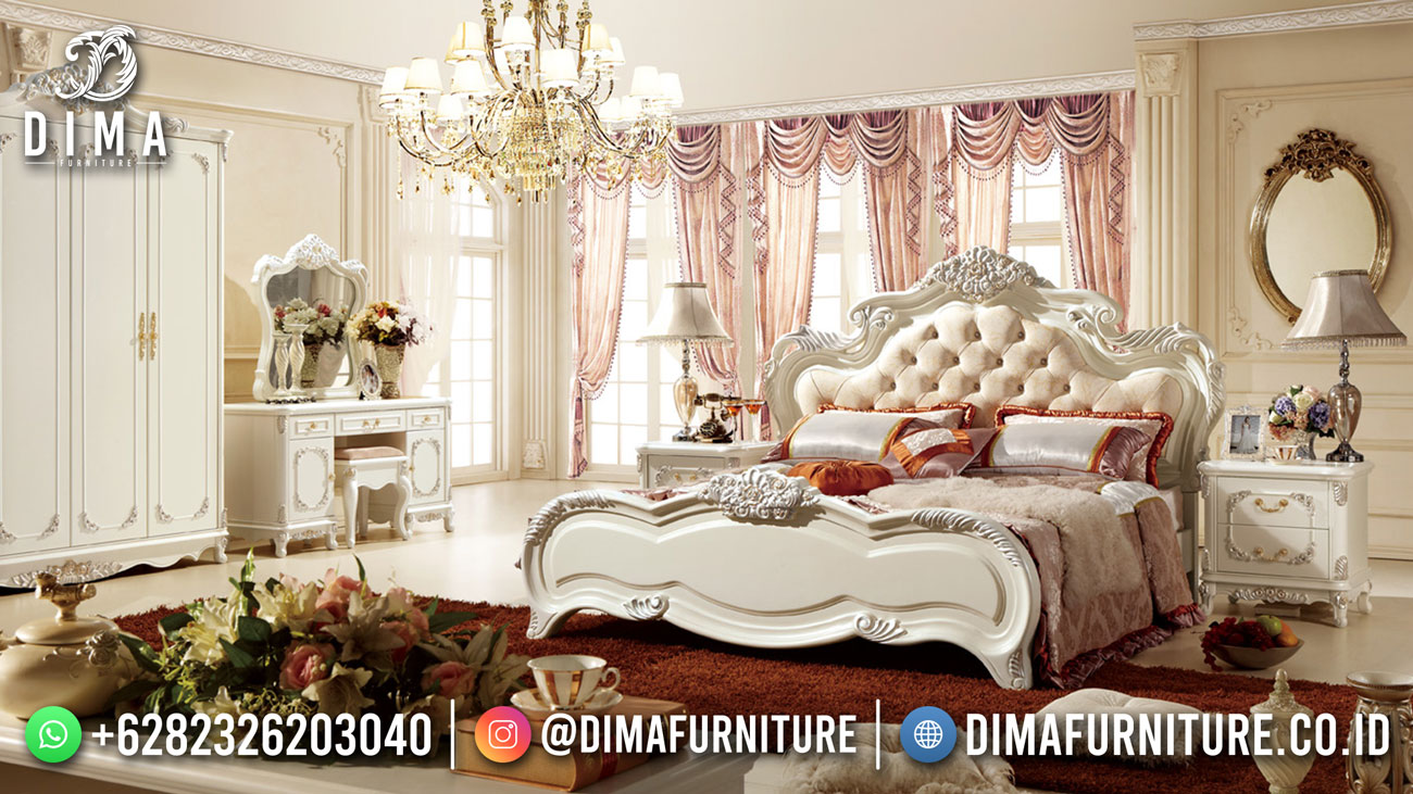 For Sale Tempat Tidur Mewah Putih Duco Luxury Color DF-1593