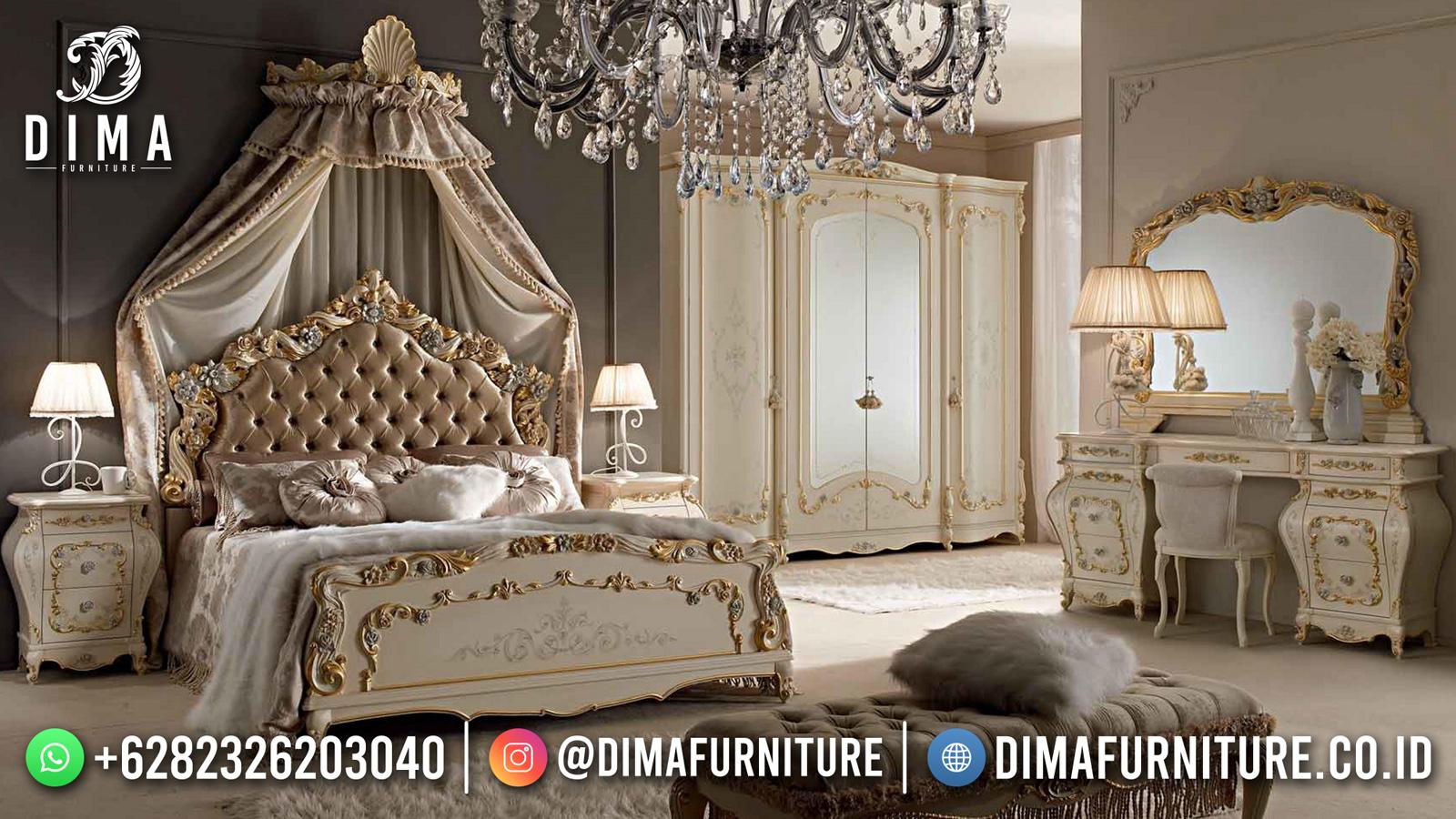 Model Tempat Tidur Mewah Ukir Jepara Elegant Color DF-1561