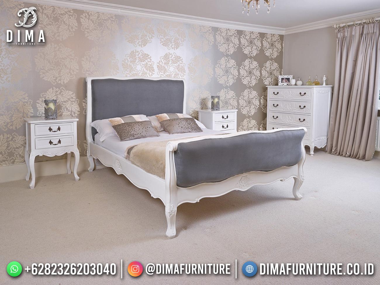 New Tempat Tidur Mewah Putih Duco Classic Luxury Simple Carving DF-1586