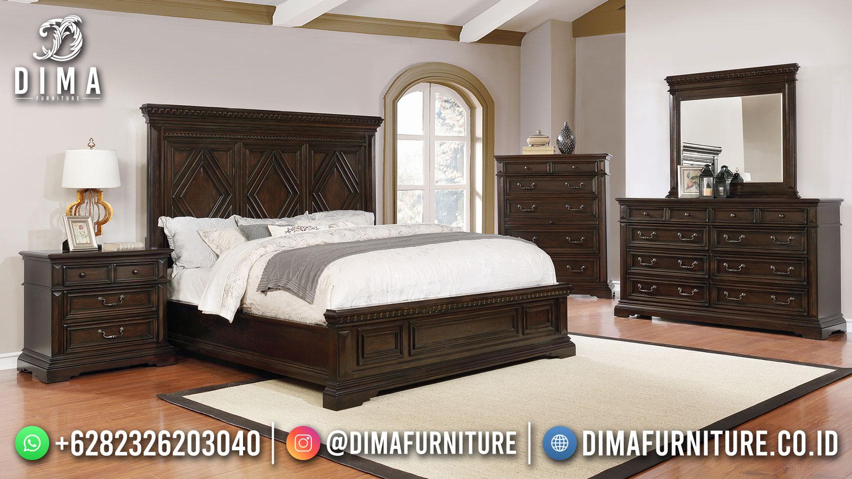 Tempat Tidur Jati Minimalis Natural Salak Brown New Furniture Jepara Design Df-1566