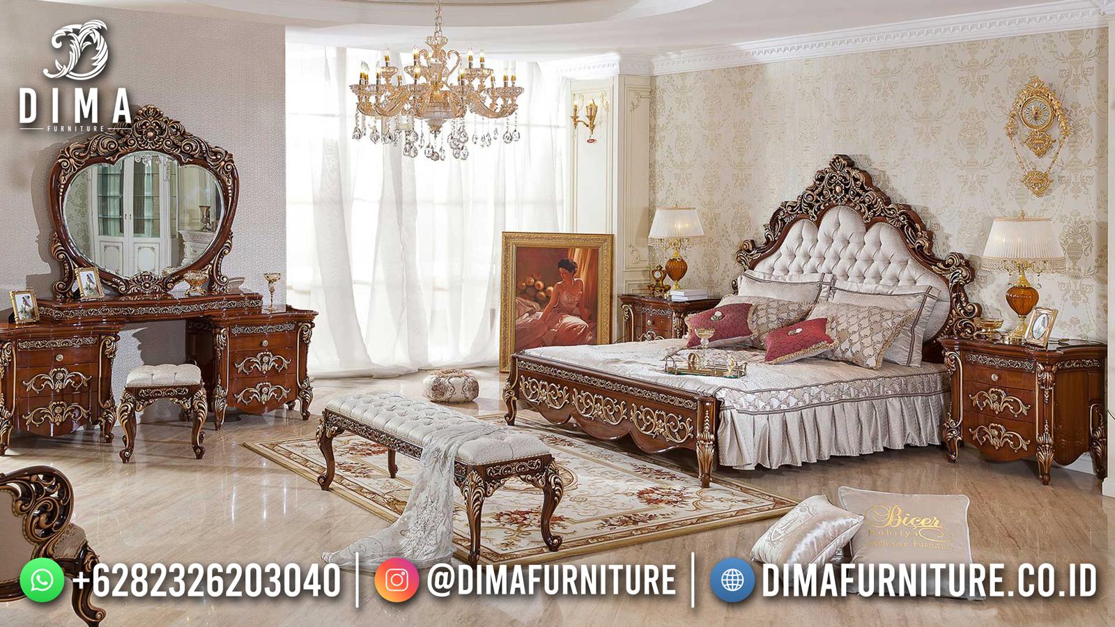 Tempat Tidur Mewah Jati Natural Classic Europe Style DF-1564