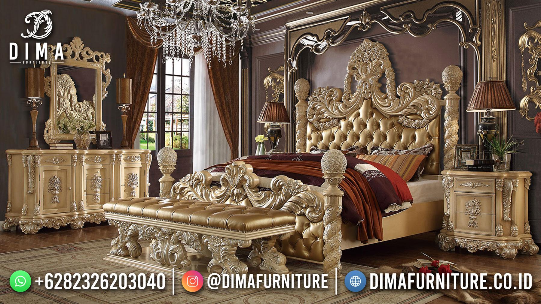 Tempat Tidur Mewah Jepara Ukir Klasik Luxury Design DF-1560