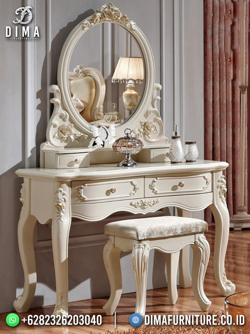 Beauty Duco White Meja Hias Minimalis Klasik DF-1674
