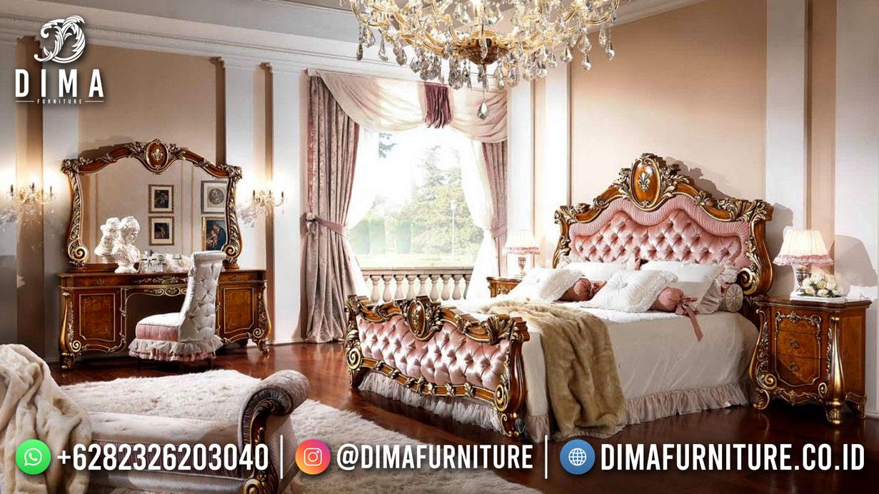 Best Design Tempat Tidur Mewah Jati Natural Jepara DF-1697