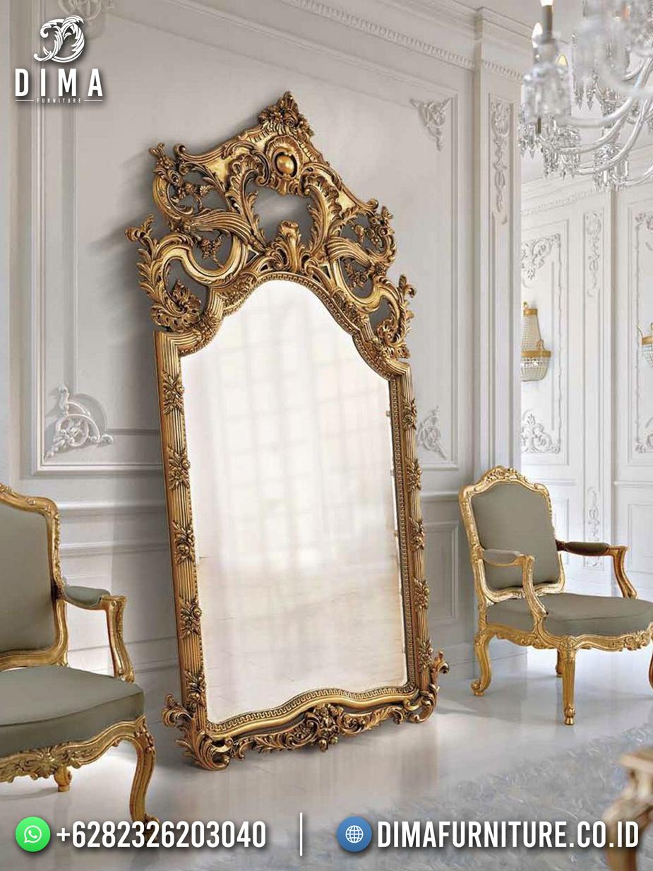 Cermin Hias Stand Mewah Ukiran Luxury Gold DF-1669