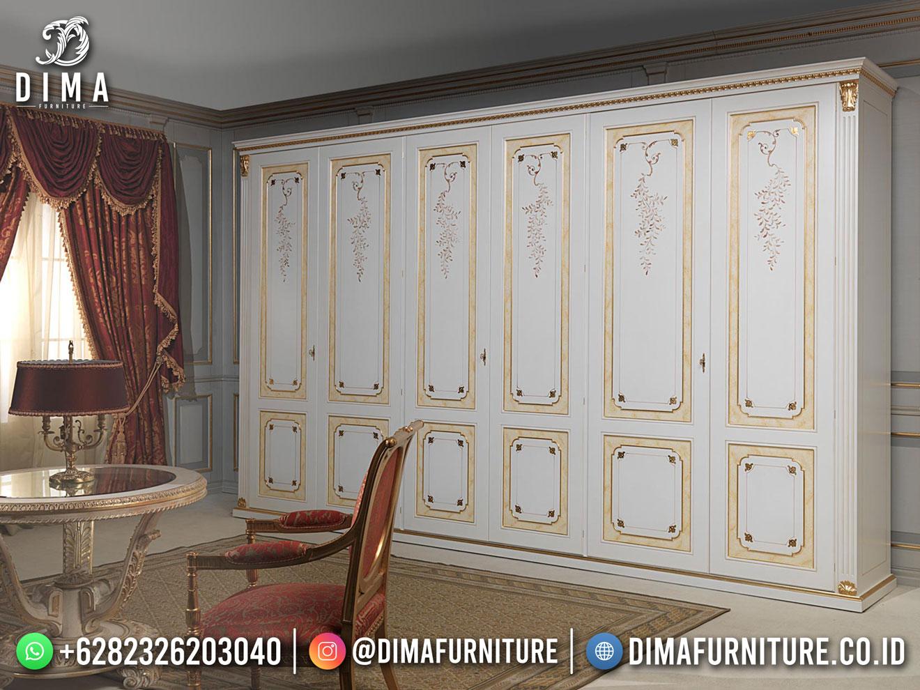 Charlotte Lemari Pakaian Terbaru 6 Doors Furniture Jepara DF-1714