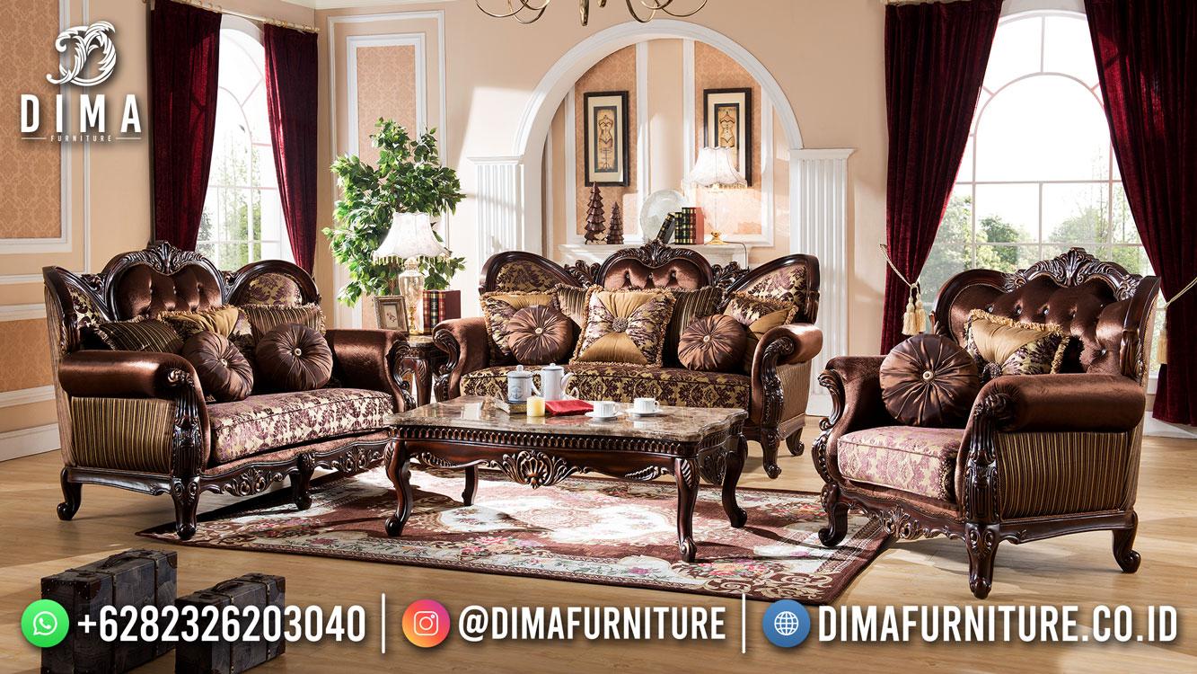 Cinnamon Kursi Sofa Tamu Mewah Klasik Terbaru Jepara Luxury DF-1623