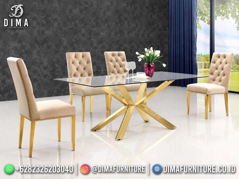 Desain Meja Makan Minimalis Industrial Furniture DF-1690