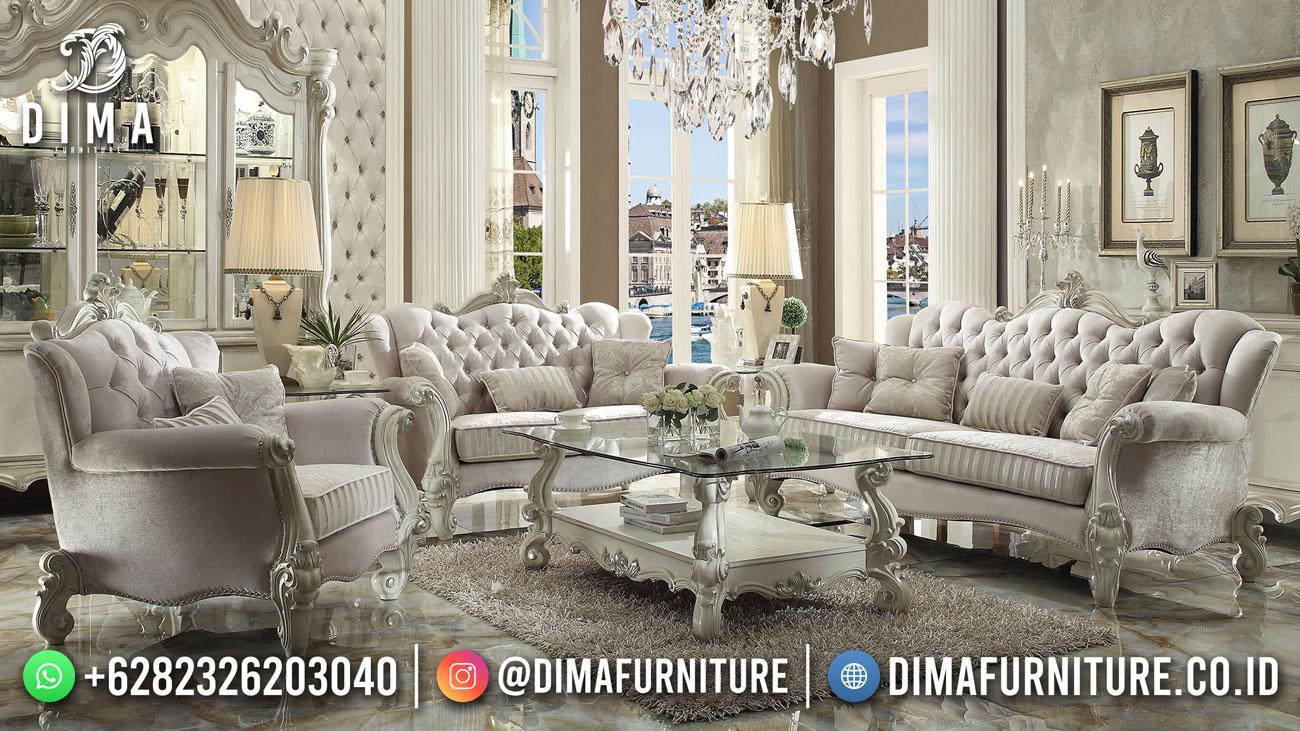 Elegant Set Sofa Tamu Jepara Luxury Snow White DF-1619