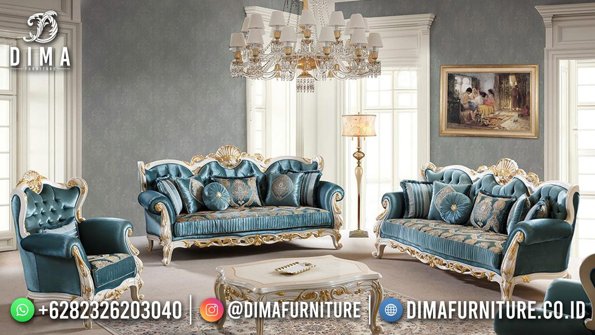 Jual Sofa Tamu Mewah In Beauty Blue Ocean Df-1633