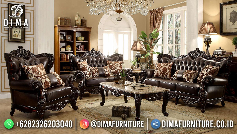 Jual Sofa Tamu Mewah Ukiran Klasik Jepara Elegant Design DF-1622