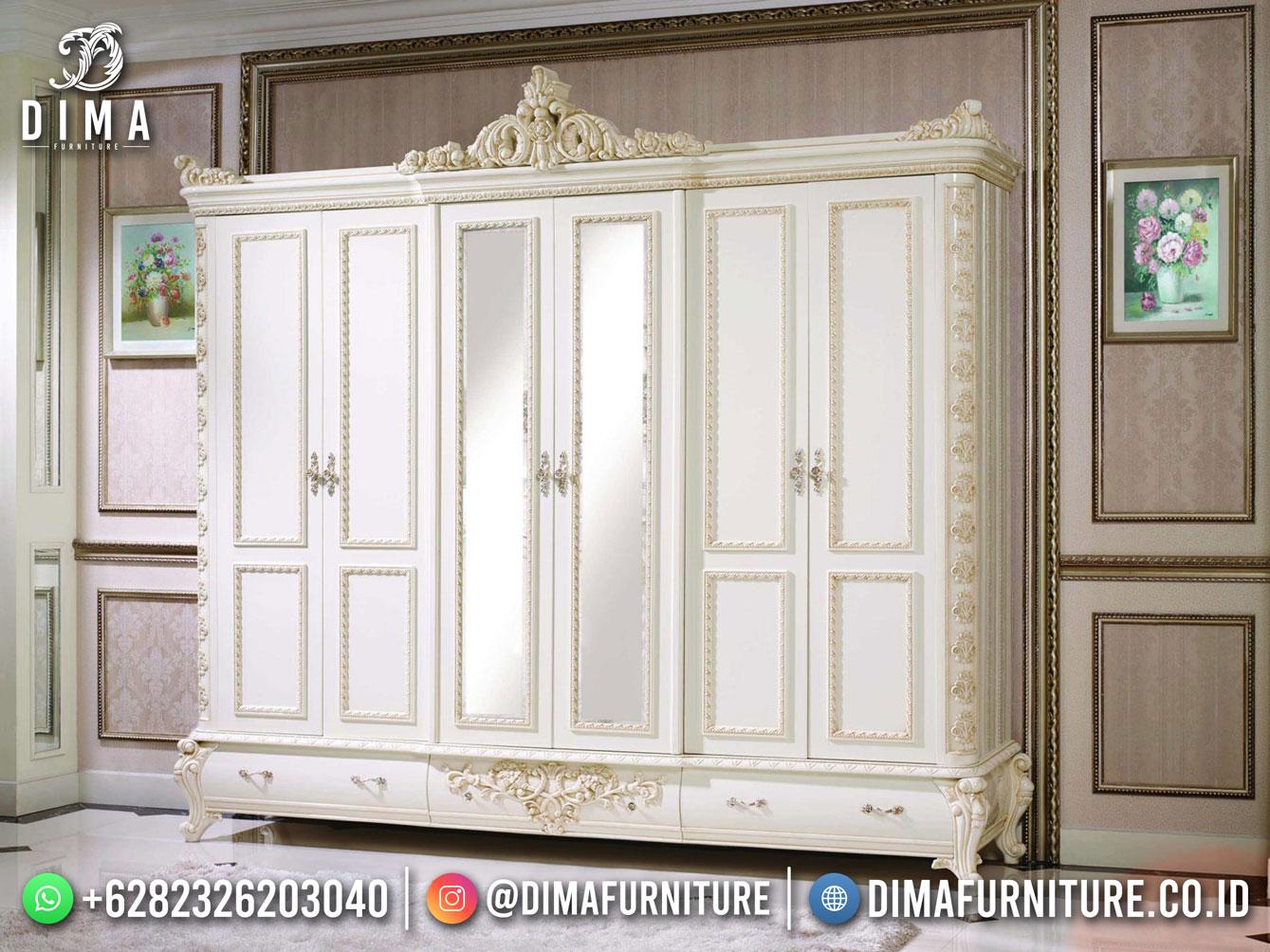 Lemari Pakaian Terbaru Alexandra Luxury Carving Best Price DF-1718