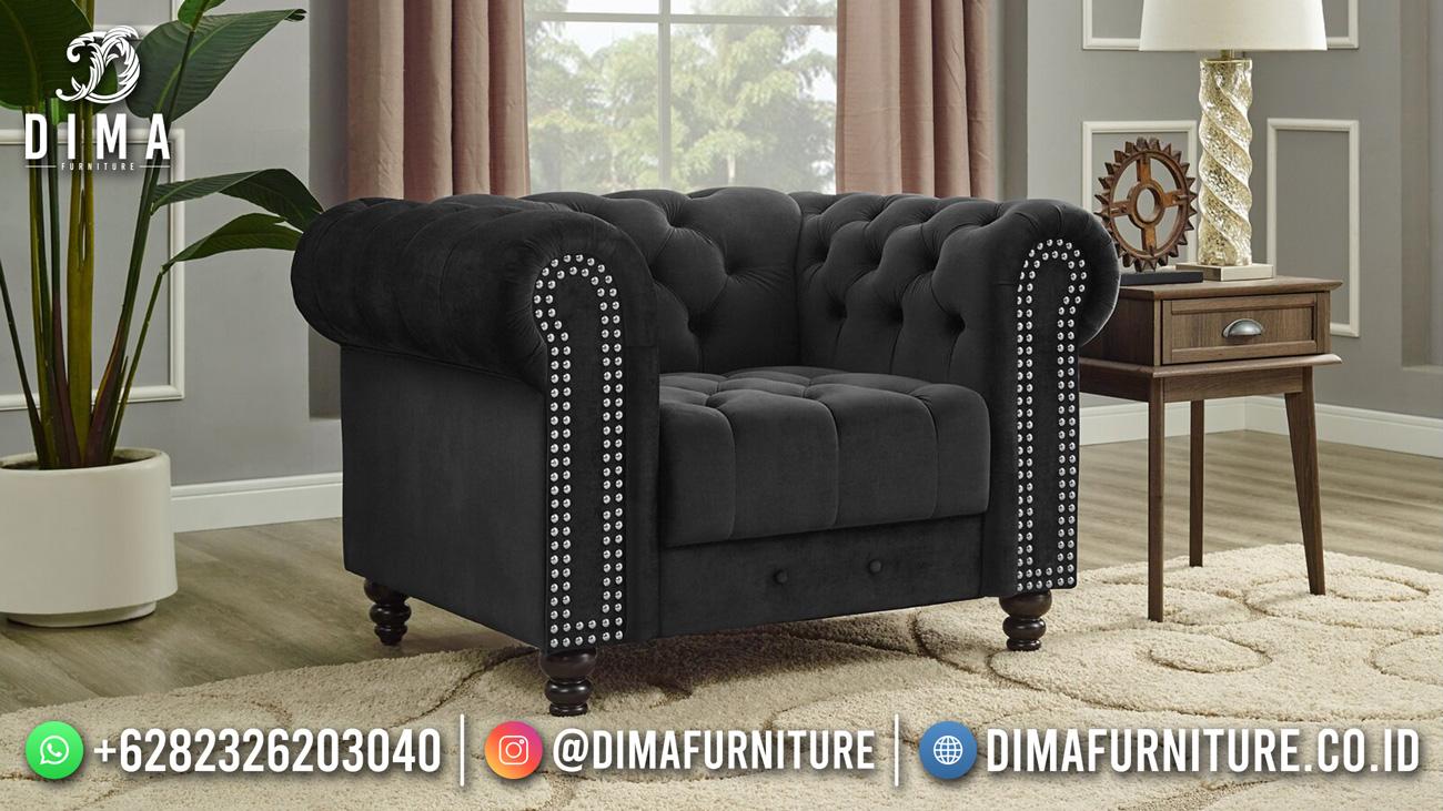 Luxury Sofa Tamu Minimalis Black Elegant Design DF-1606