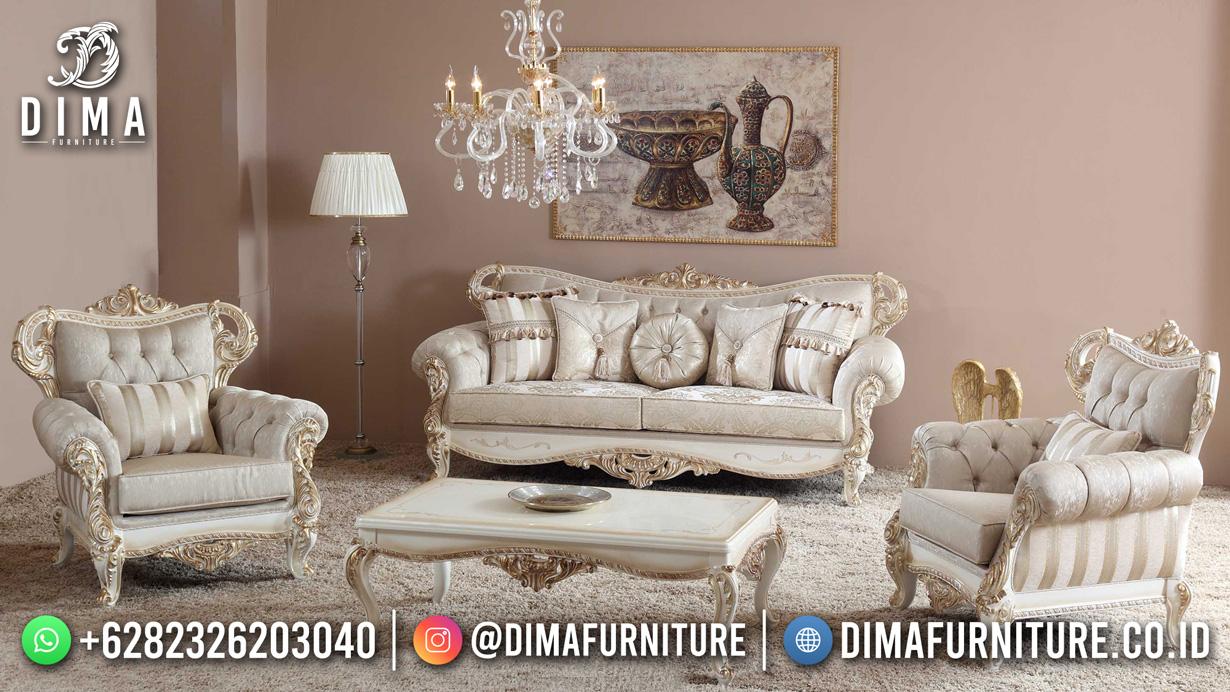 New Model Sofa Tamu Jepara Luxury Carving White DF-1632