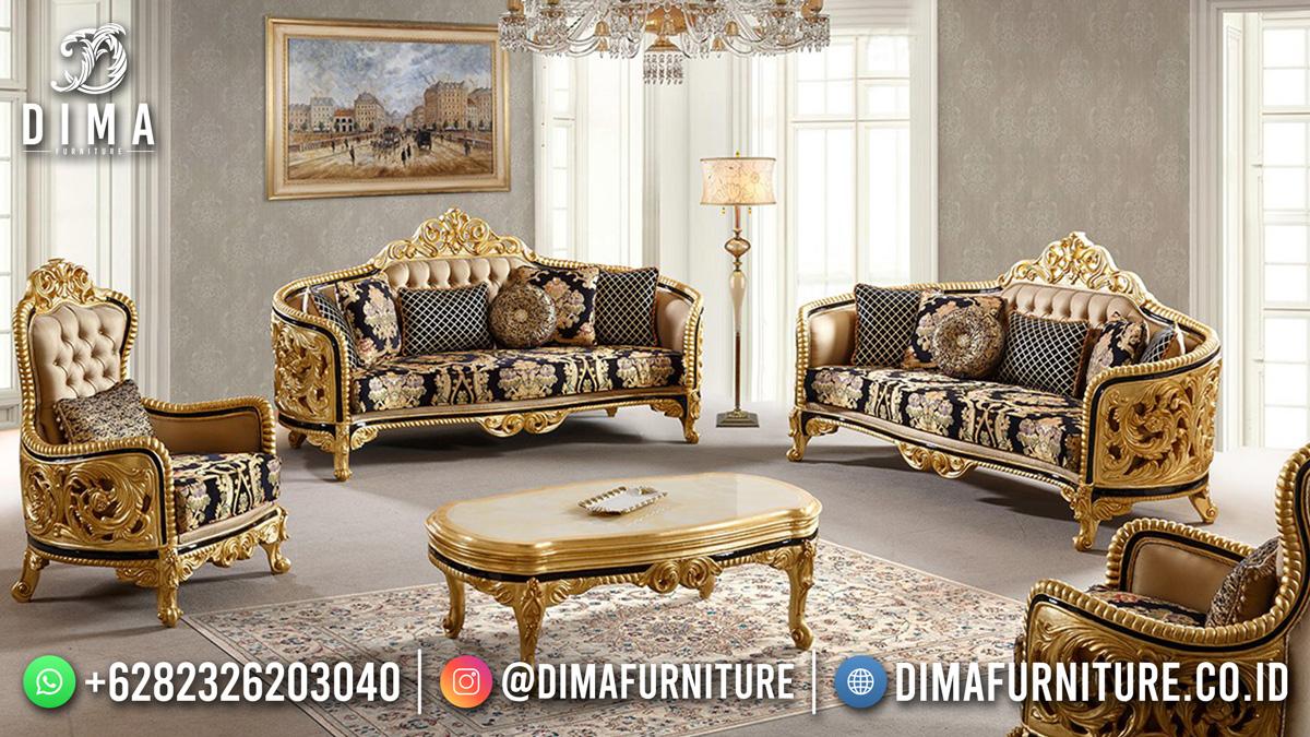 New Model Sofa Tamu Ukir Mewah Beauty Georgiana DF-1629
