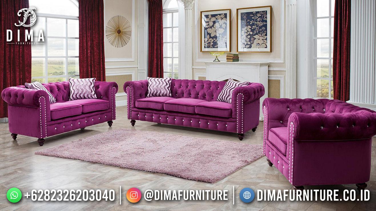 Sale Kursi Sofa Tamu Minimalis Jepara Luxury Purple DF-1602