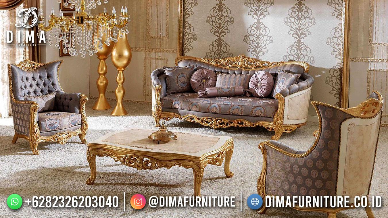 Satu Set Sofa Ruang Tamu Mewah Jepara Luxury Design DF-1613