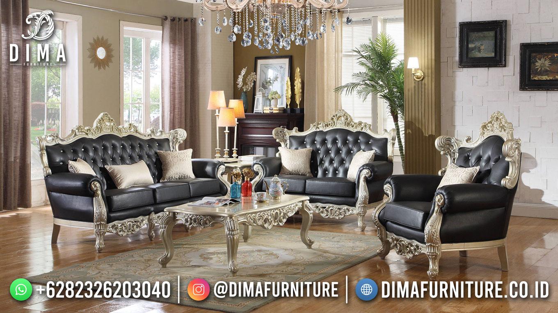 Set Sofa Tamu Mewah Elegant Jepara Onyx Black DF-1616