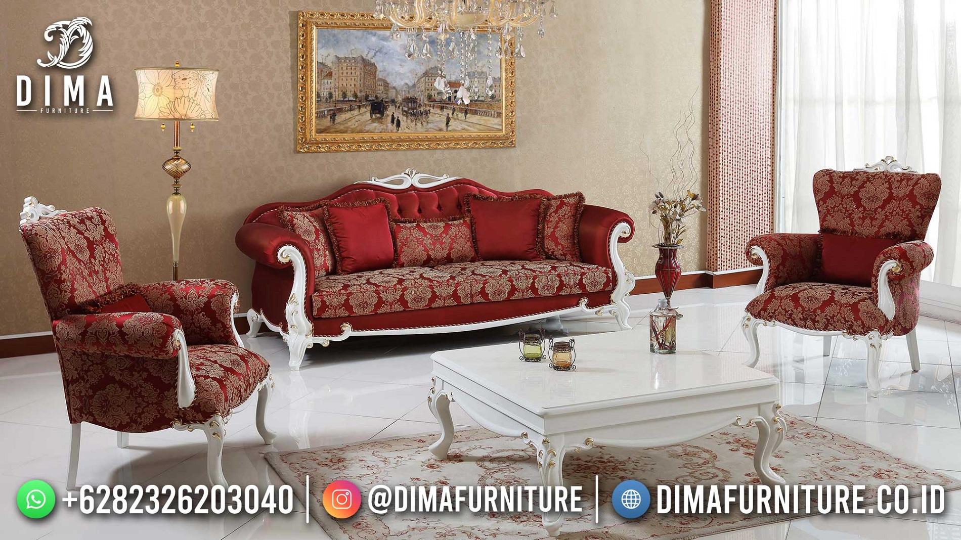 Beauty Classy Red Set Kursi Tamu Jepara Terbaru Best Product DF-1815