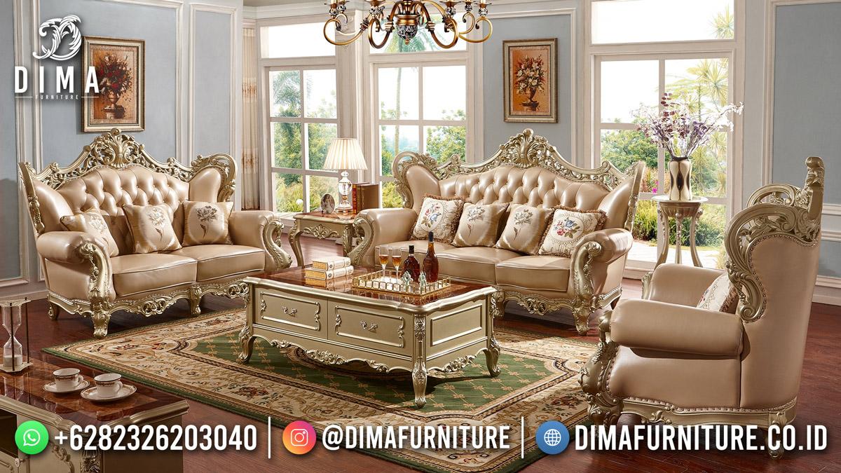 Best Seller Sofa Tamu Kota Jepara Mewah Klasik Duco Shinning DF-1843