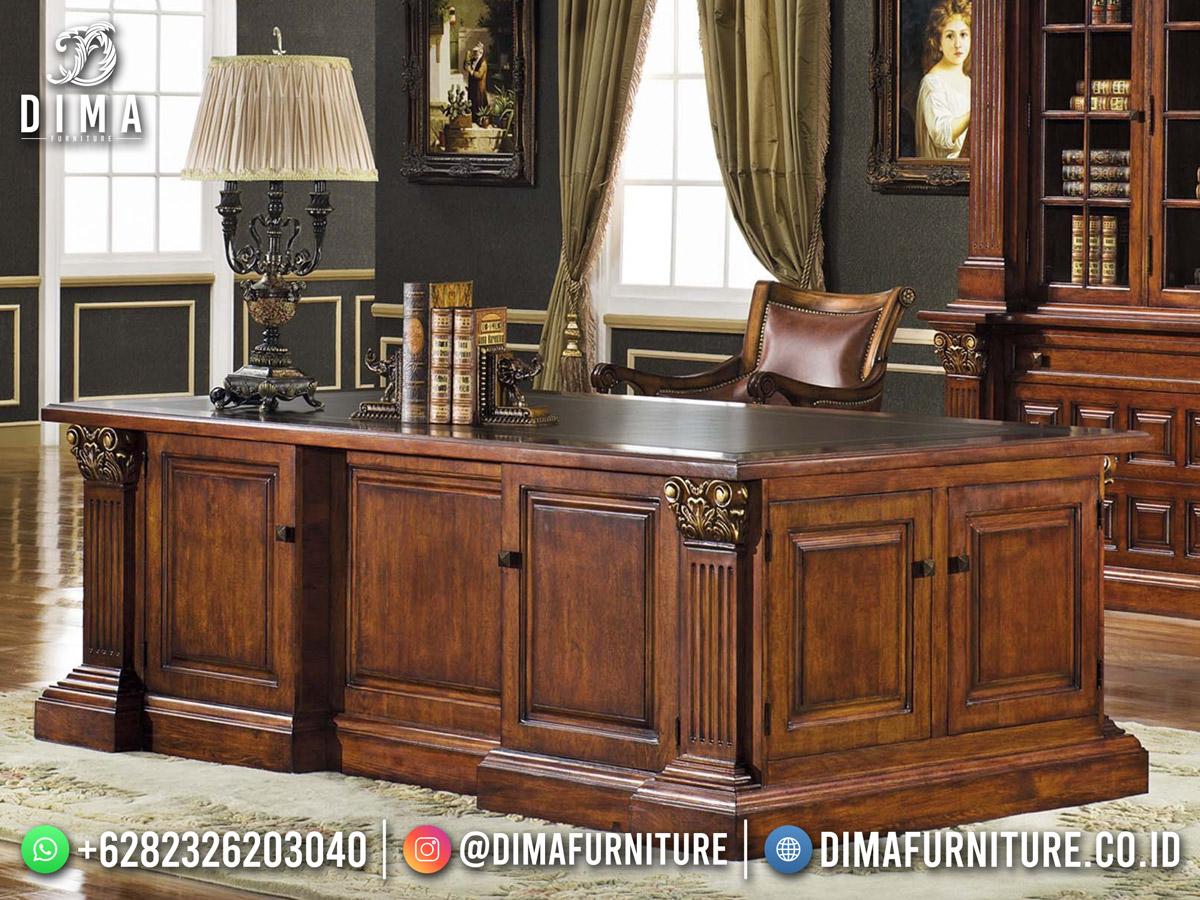 Desain Meja Kantor Direktur Minimalis Mewah DF-17856