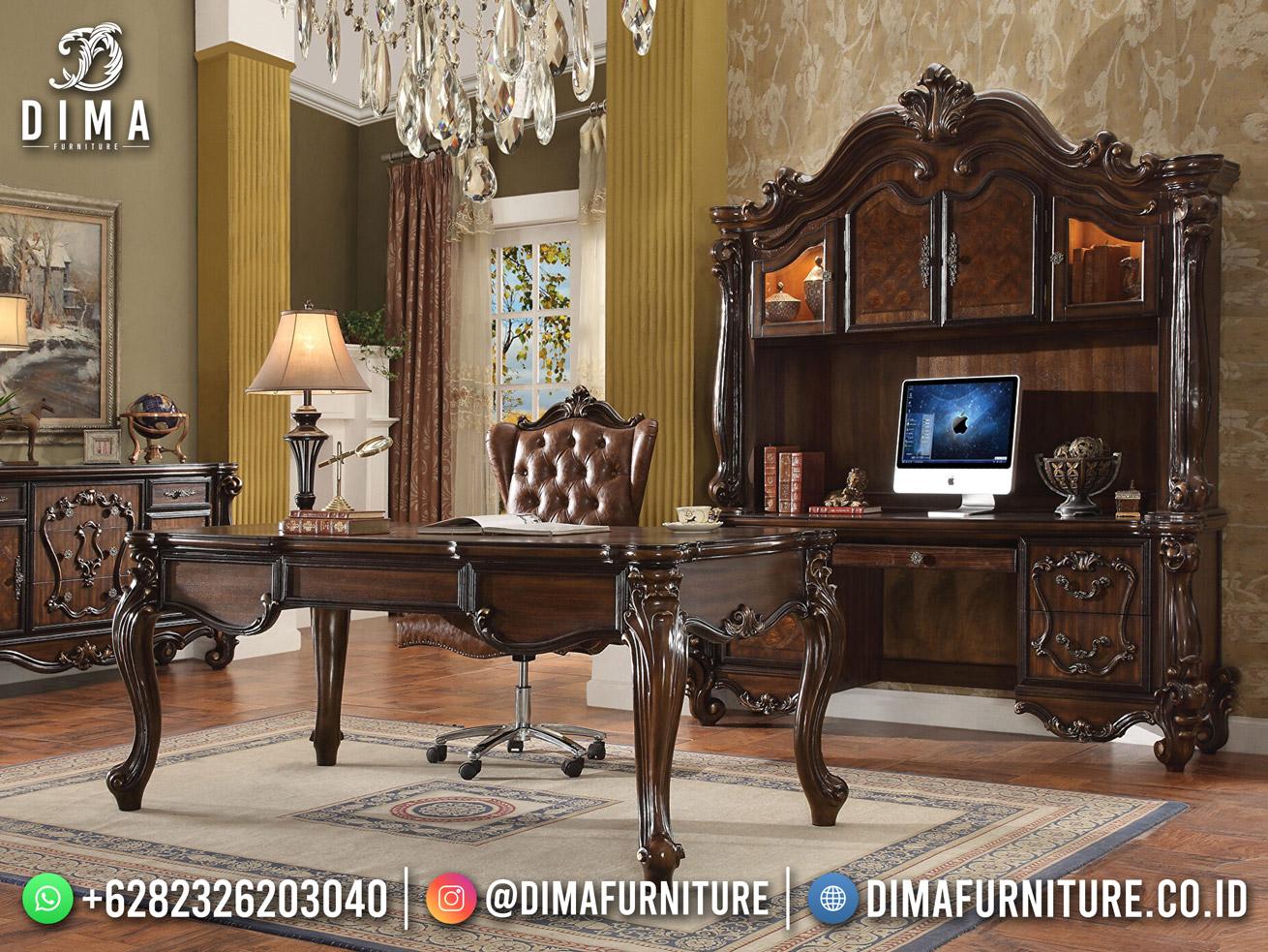 Desain Meja Kantor Jepara Model Klasik Terbaru High Quality DF-1780