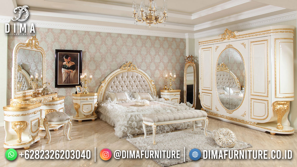 Desain Terbaru Tempat Tidur Sultan Mewah Luxury Glamorous Charoline DF-1809