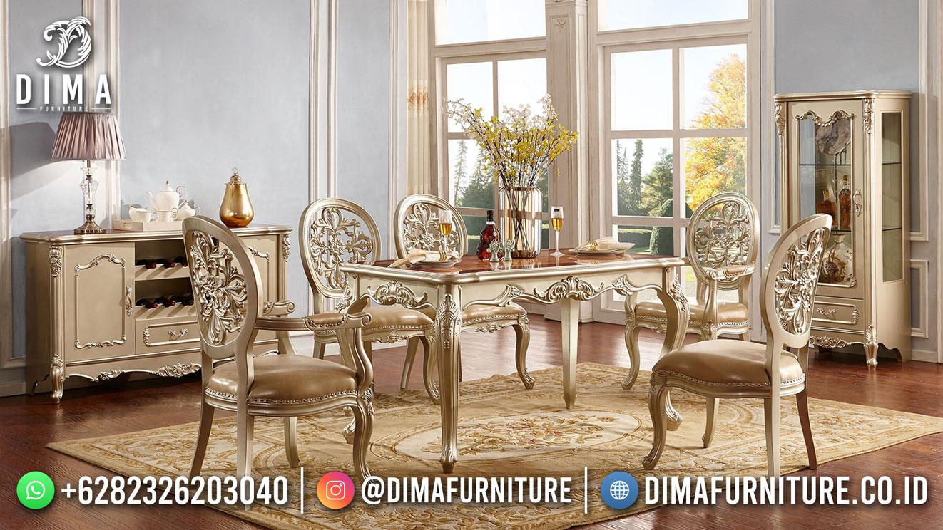 Diskon Meja Makan Terbaru Ukiran Simple Jepara Duco DF-1737