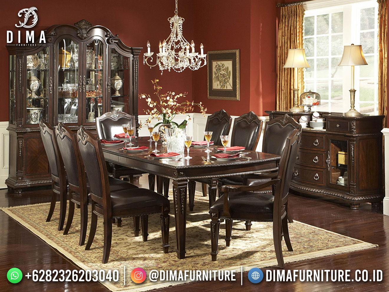 Furniture Jepara Meja Makan Jati Jepara Natural Best Quality DF-1748